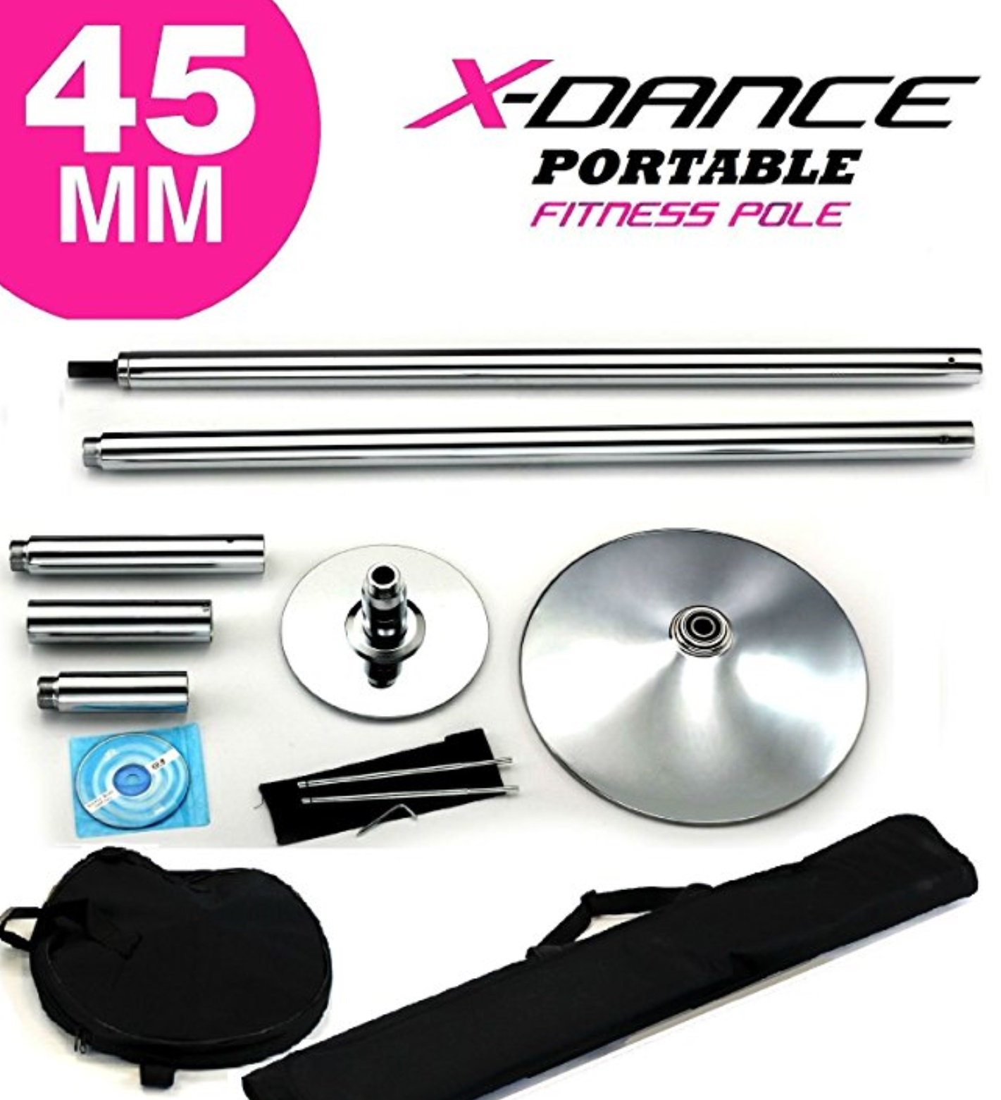 stripper pole parts and bag