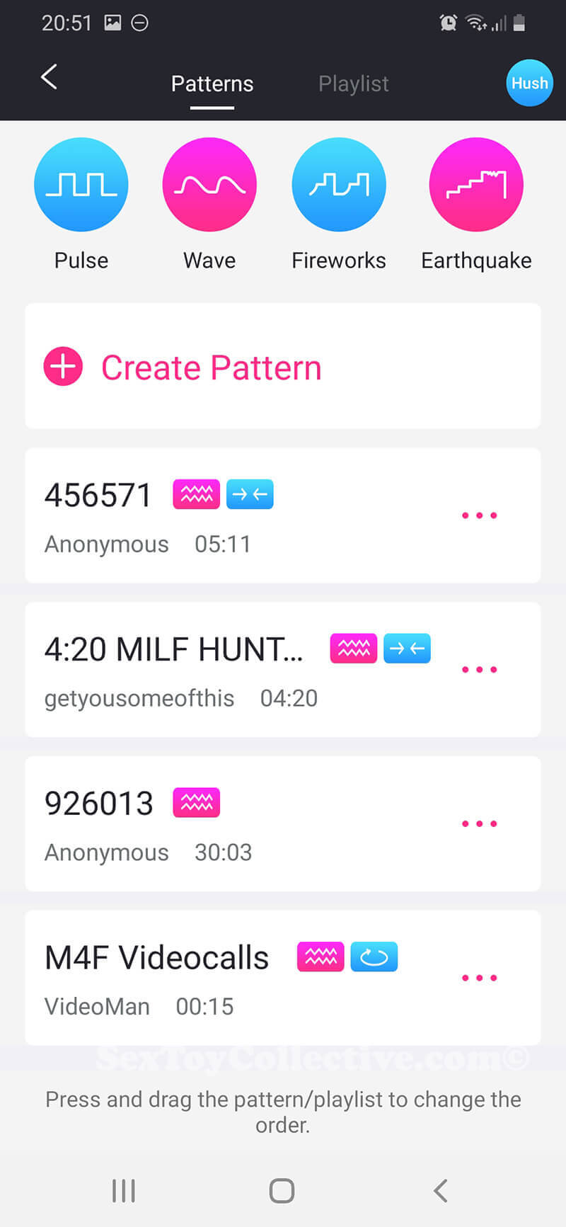 Patterns-Remote-Lovense Remote app