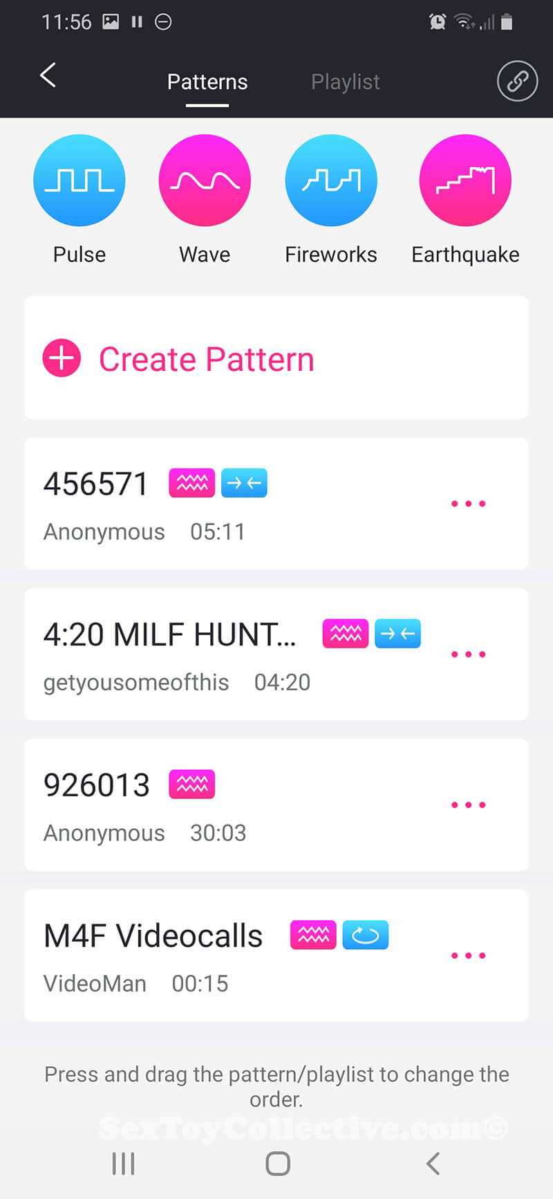 Remote App Lovense Patterns