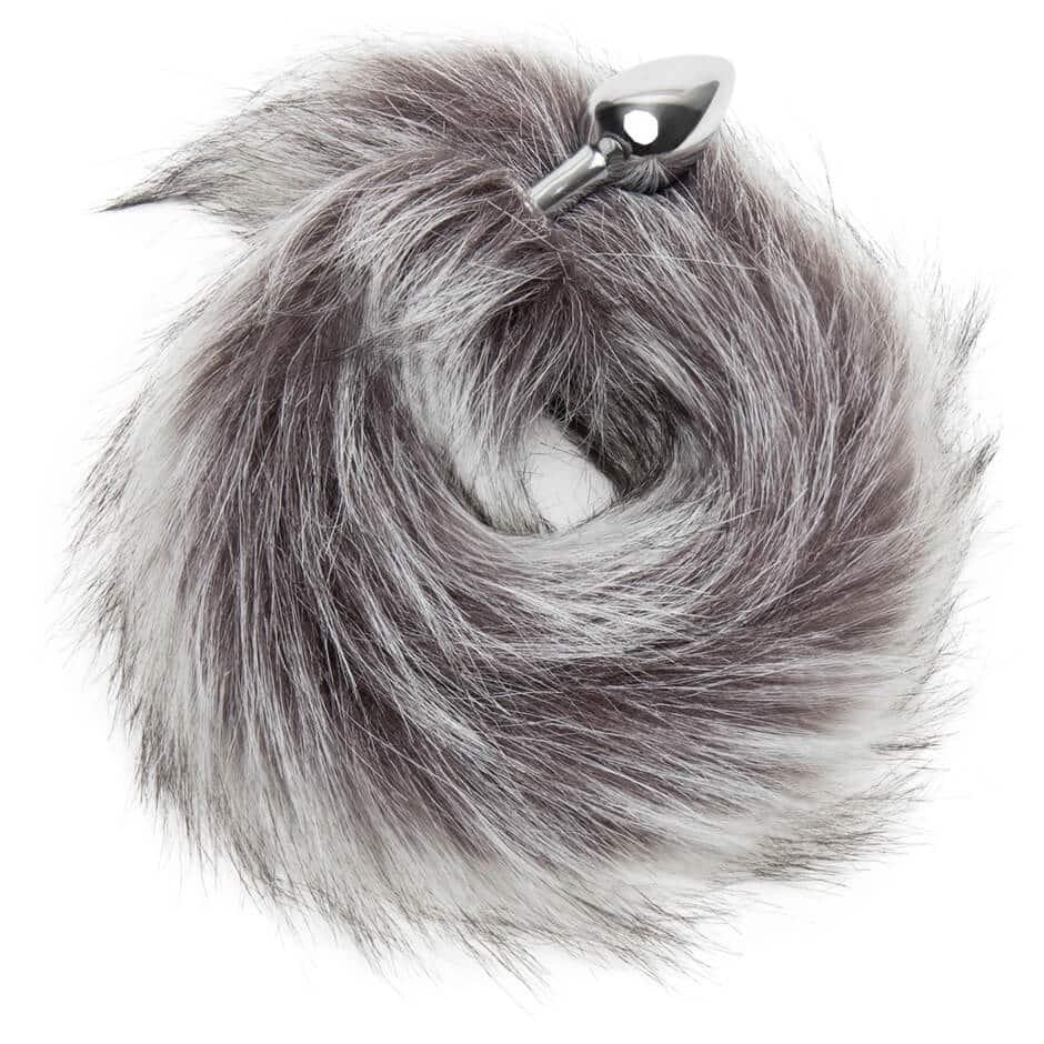 Silver Fox Tail Anal Plug