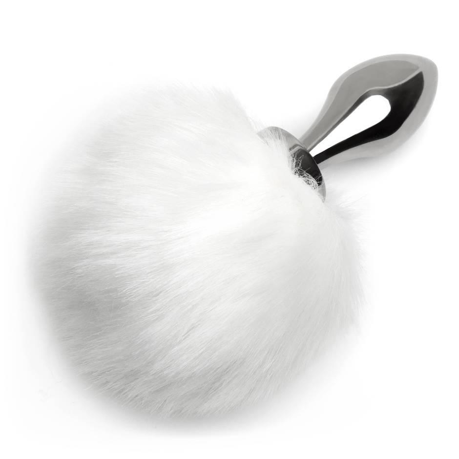 Small Aluminum Fake Fur Bunny Plug