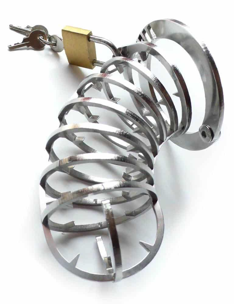 Spiked Male Chastity Cage
